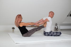 Bente giver Peter Thai yoga massage