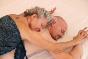 Situation under tantra massage